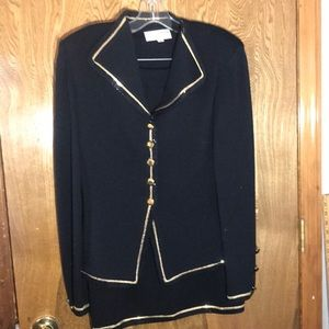 St John Evening by Marie Gray black knit suit 10